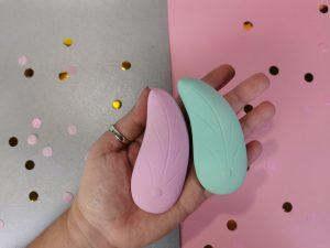 Ik heb de l'eve en de ali vibrator in mijn hand. Je ziet dat ze, afgezien van de kleur, er precies hetzelfde uitzien.