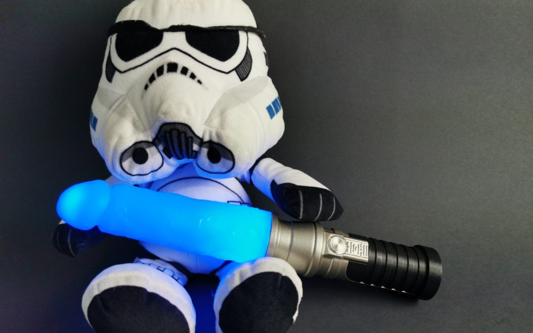 Geeky Sex Toys Blue LED Laser Sword Dildo