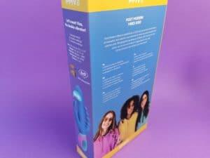De achterkant van de verpakking van de pmv20 vice