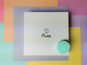 Een beppy pure tampon op het doosje